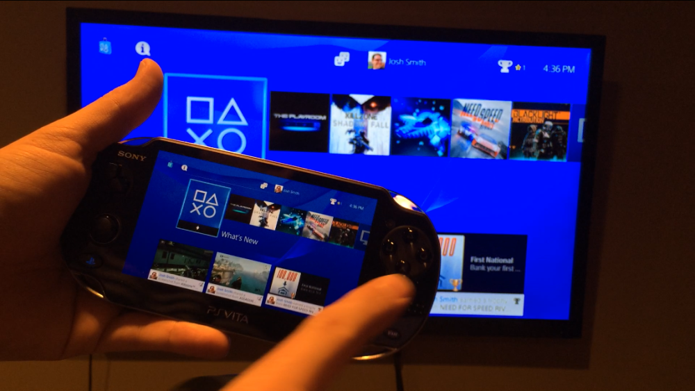 Remote Play between PS4 and Vita.