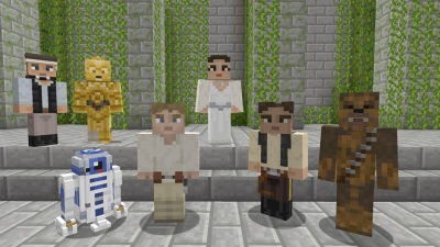 elegant star wars minecraft skins out now for a more civilized xbox