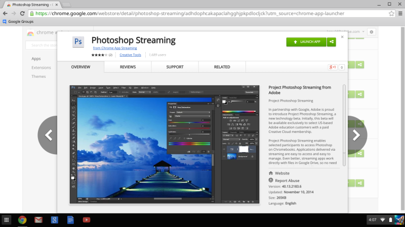 Streaming Ps in the Chrome Store