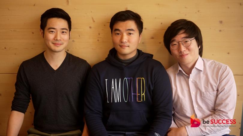 Left to right, CEO Ted Kim, CFO David Suh, CTO Shawn Kim