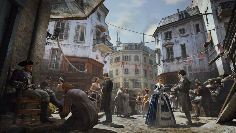 Paris is bustling and beautiful in Assassin's Creed Unity