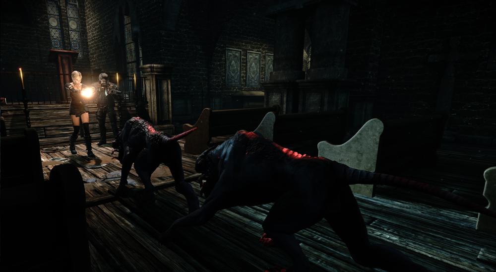 Alone in the Dark: Illumination church beasts