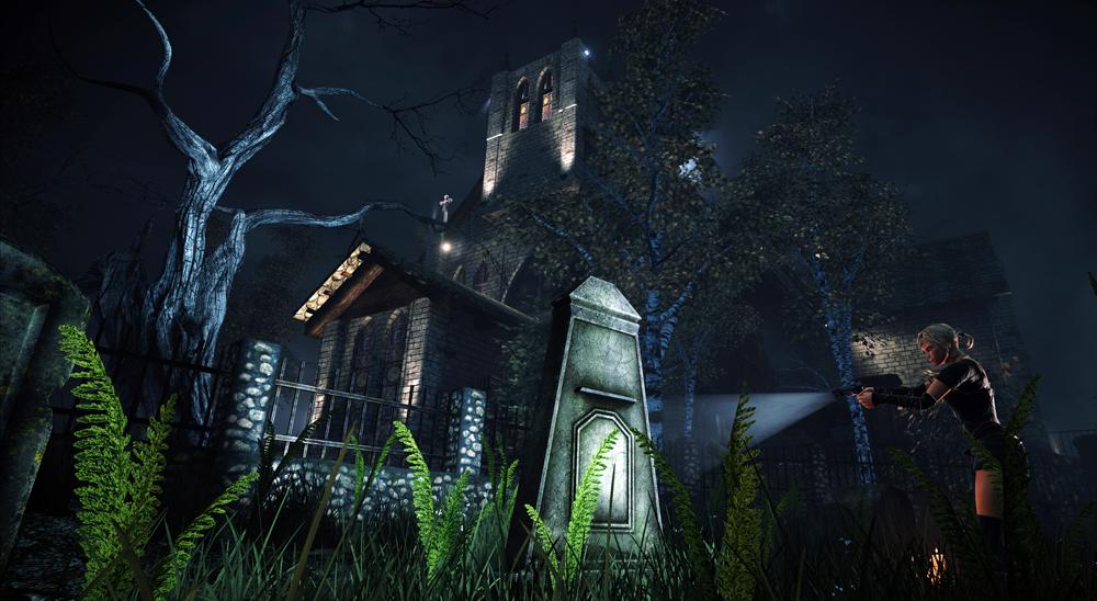 Alone in the Dark: Illumination exterior church witch