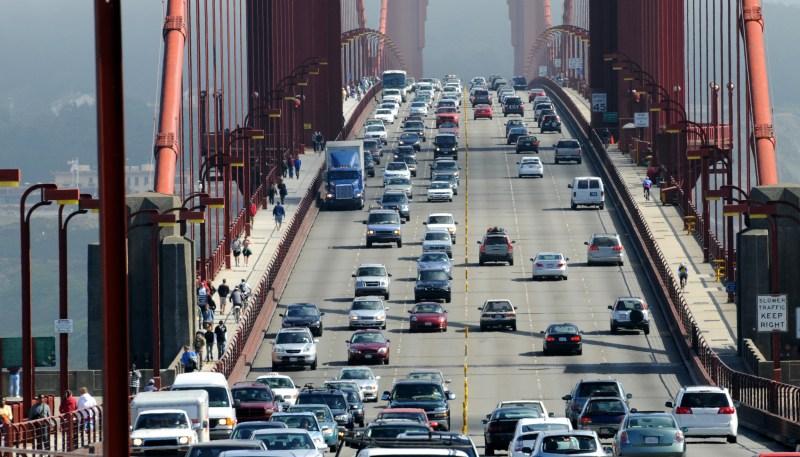 Golden Gate Bridge traffic
