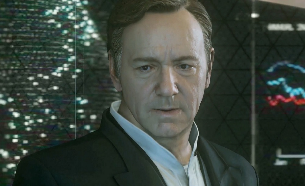 Call of Duty: Advanced Warfare features actor Kevin Spacey.