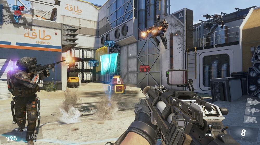 Call of Duty: Advanced Warfare exoskeleton combat.