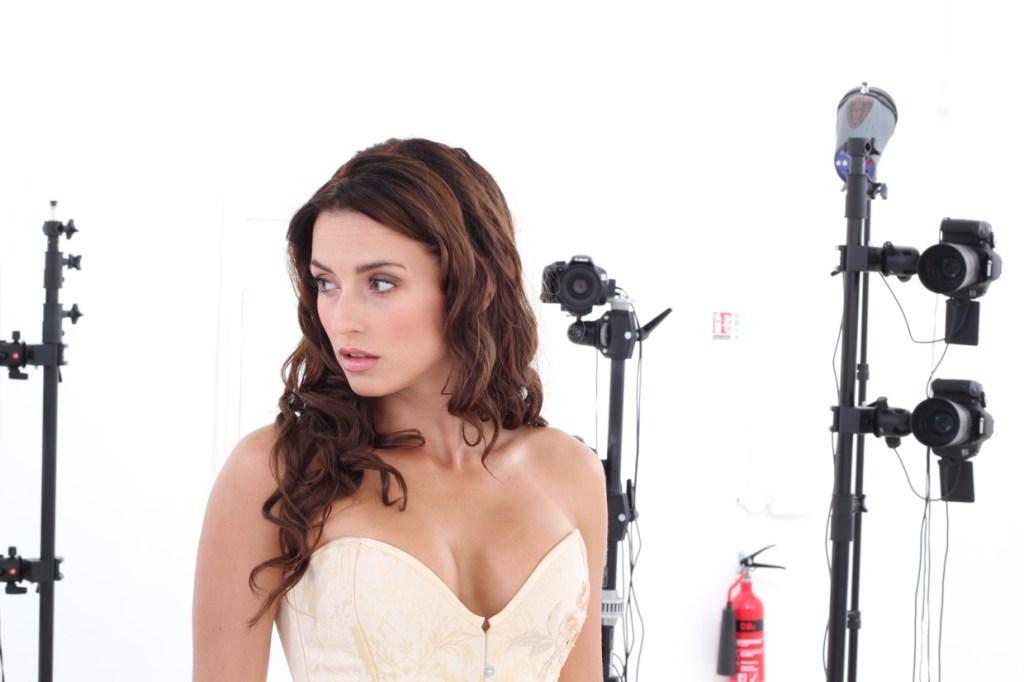Body-scanning the female model used in the Cyberpunk 2077 trailer.