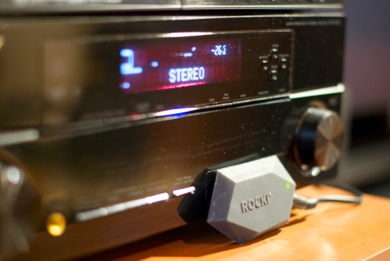 The Rocki Play can plug into almost any audio device.