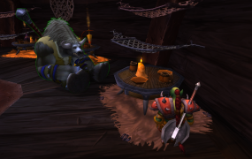 Gamon with friend in World of Warcraft