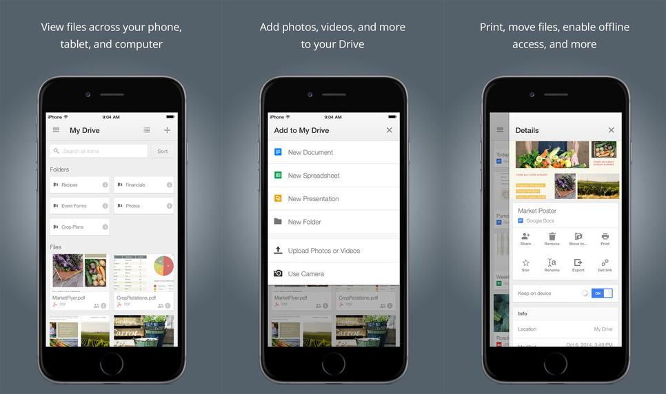 google drive iphone drive for ios now lets you open and save files 2440