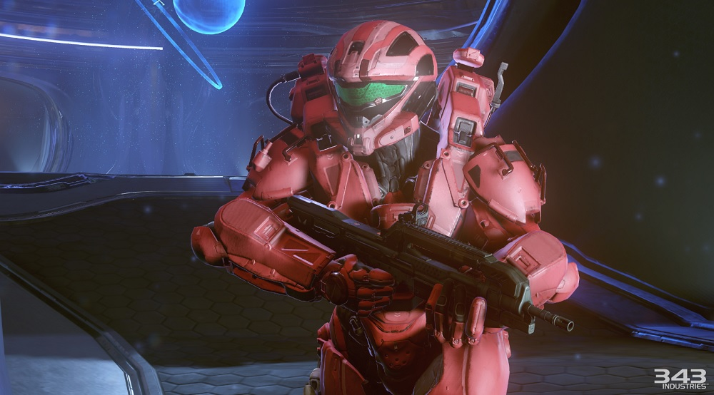 A Spartan in Halo 5 attempts to outrun the coders trying to fix him.