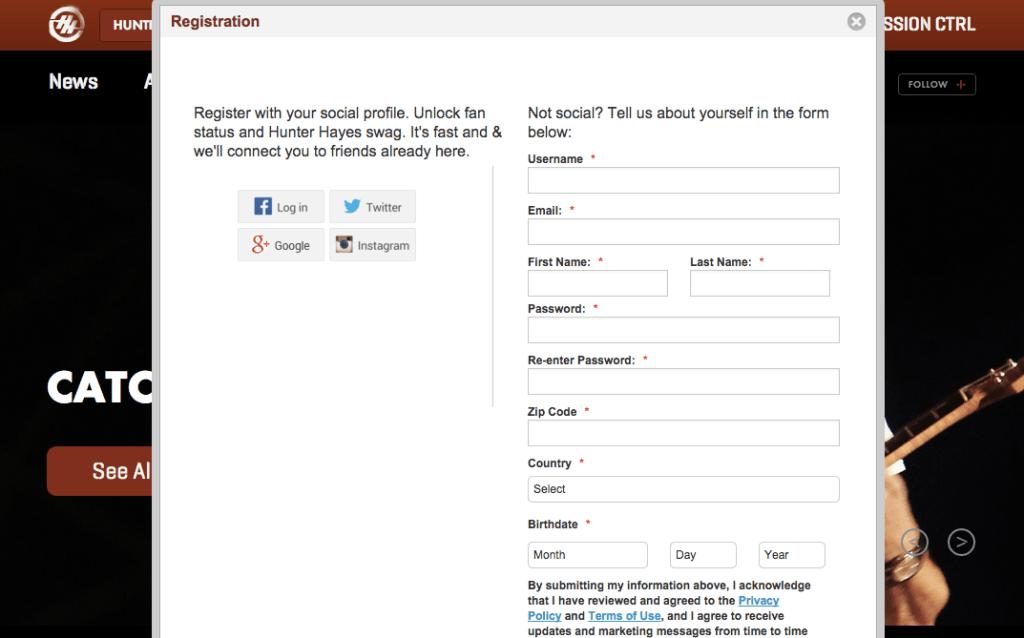 A Gigya-managed social login