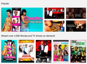 A selection of on-demand video content from iRokoTV