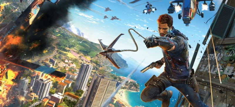 Just Cause 3 already looks plenty ridiculous. Good.