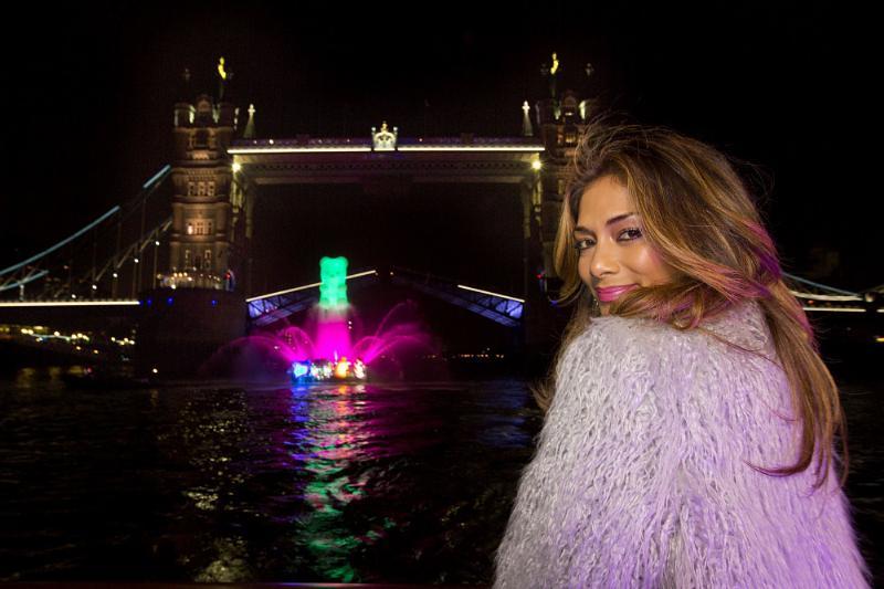 Nicole Scherzinger celebrates Candy Crush Soda Saga launch.