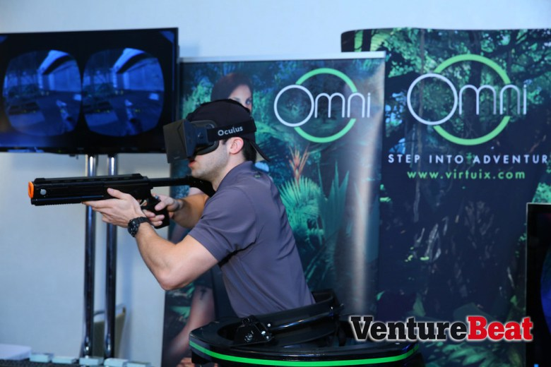 Oculus Rift and Virtuix