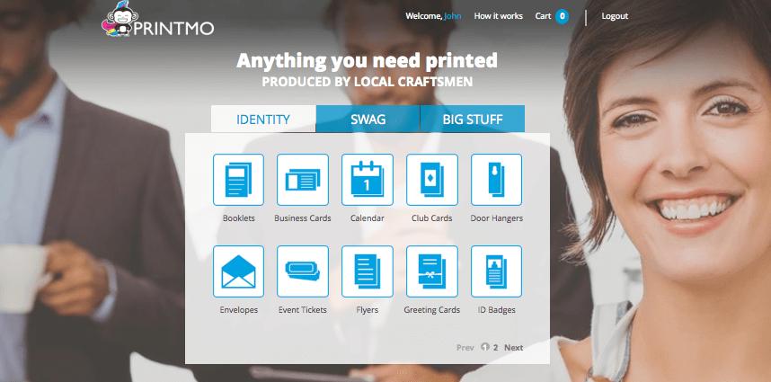 The PrintMo home page