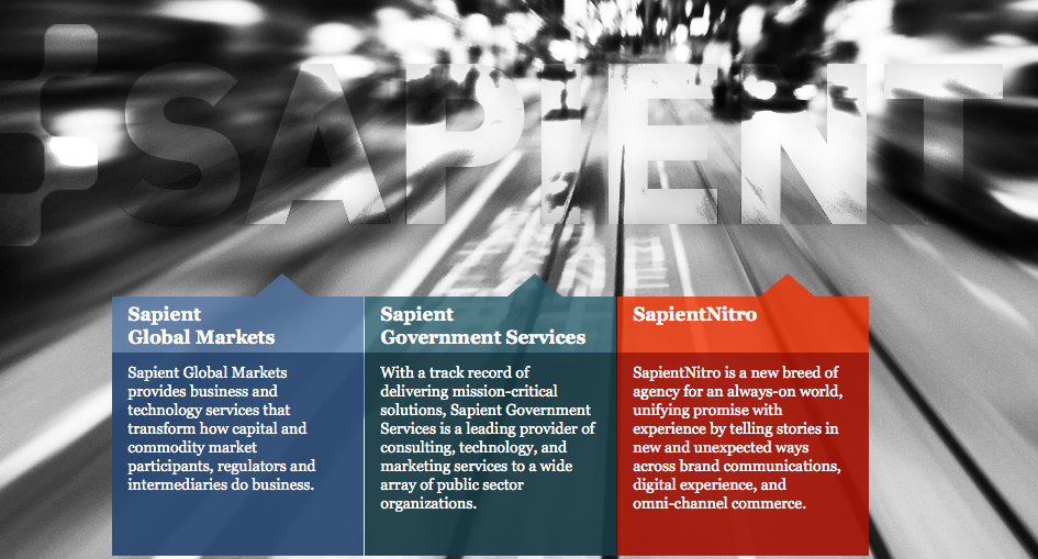 The Sapient home page