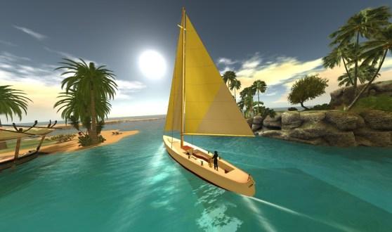 Second Life sailboat