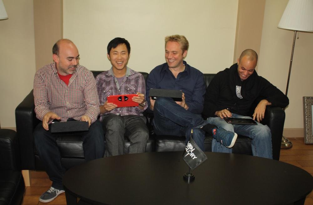 Super Evil Megacorp team Bo Daly, Kristian Segerstrale, and Stephan Sherman.
