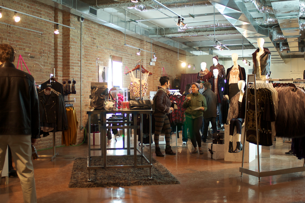 A popup clothing store in Chicago