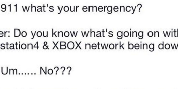 Someone apparently called '911' about the PSN outage