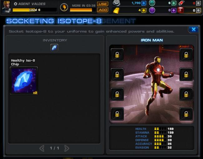 Avengers Alliance on Facebook