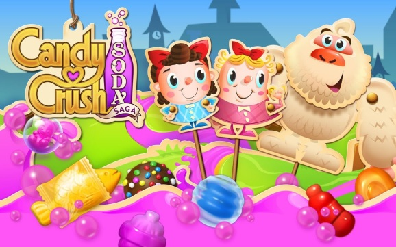 Candy Crush Soda Saga.