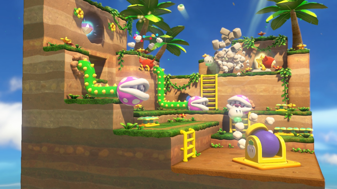 Each stage has a secret objective. In this one, you need to avoid killing any of the Piranha Plants.