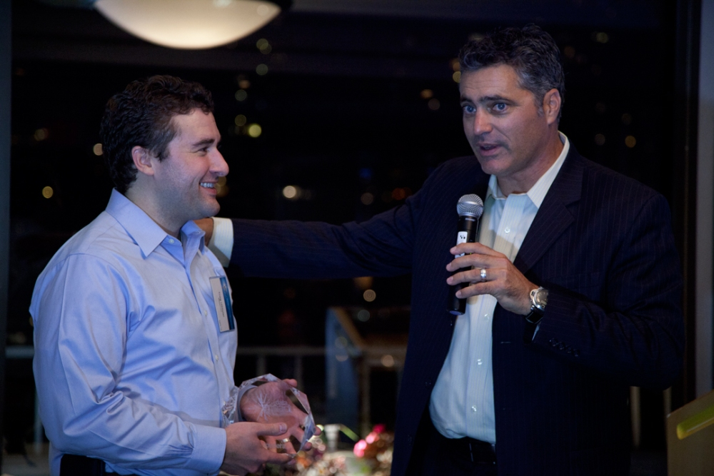 Tom Reilly, right, the chief executive of Cloudera.