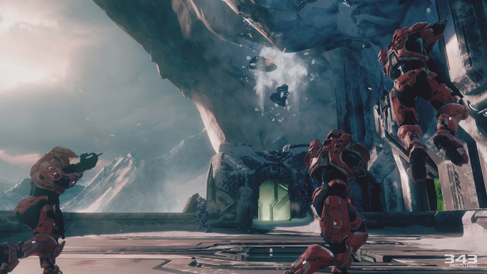 Halo 2: Anniversary multiplayer maps carry new environmental flourishes.