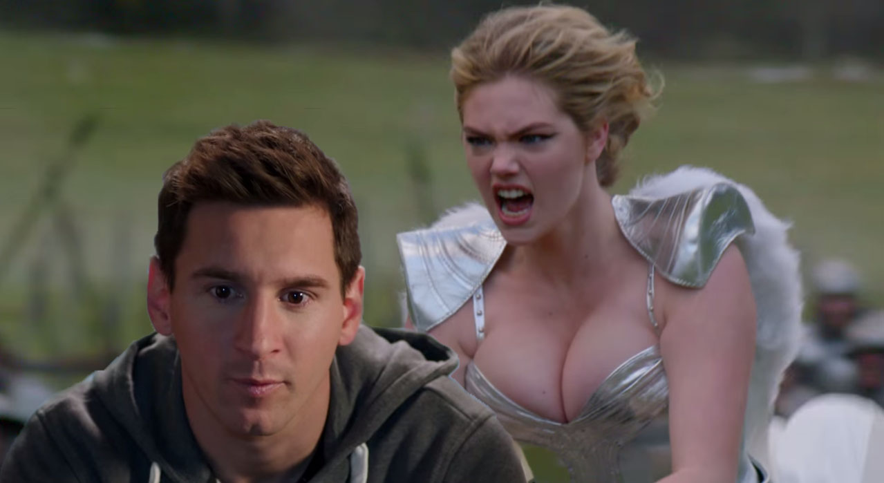 Soccer Star Lionel Messi Is Better Than Supermodel Kate Upton When It Comes To Advertising Games Updated Venturebeat