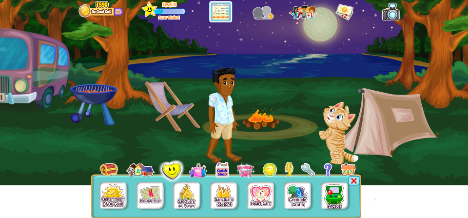 Children can customize their avatar in A Better World for Kids.