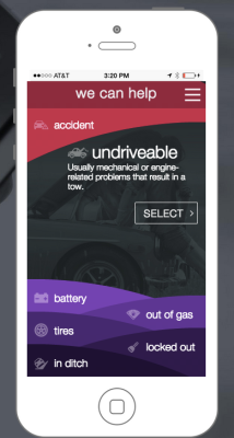 Honk lets anyone order roadside assistance via an iOS or Android app.