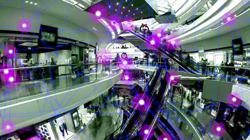 A visualization of Urudu's mesh beacon network.