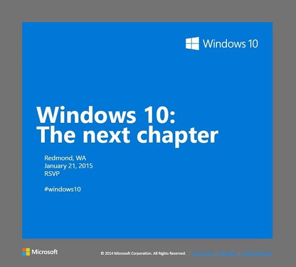 Windows 10 event invite