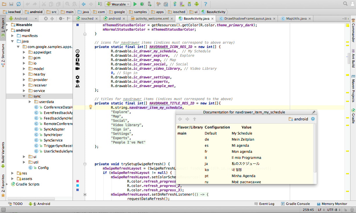 The code editor leverages IntelliJ IDEA.
