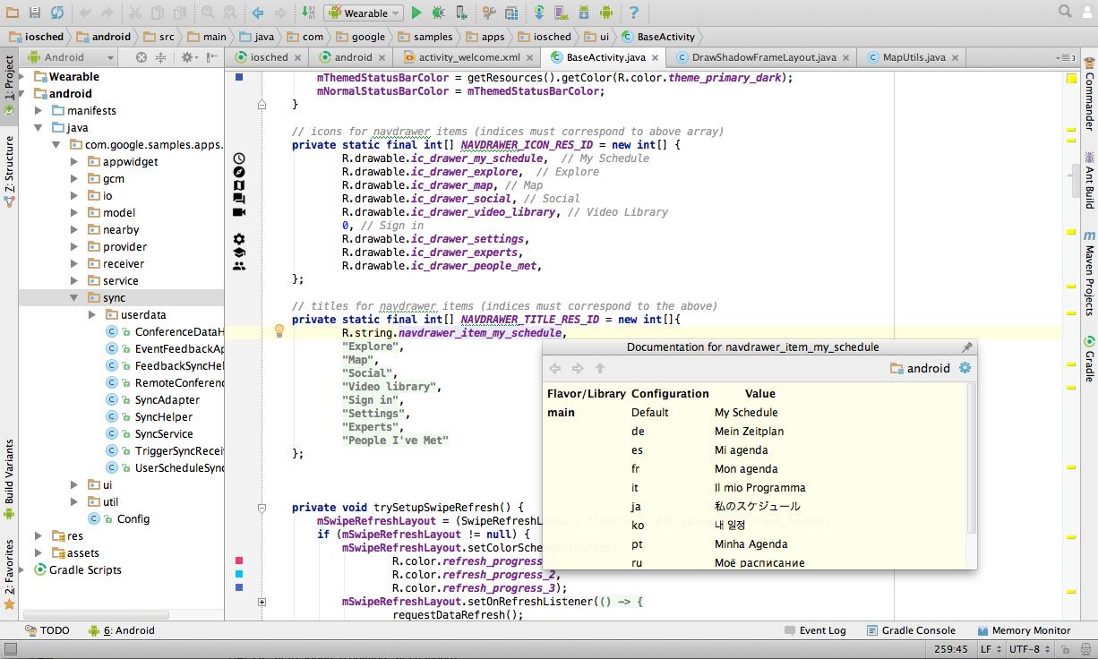 The code editor leverages IntelliJ IDEA.
