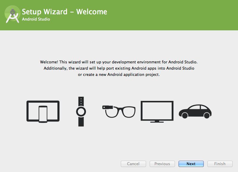The First Run Setup Wizard helps you get started.