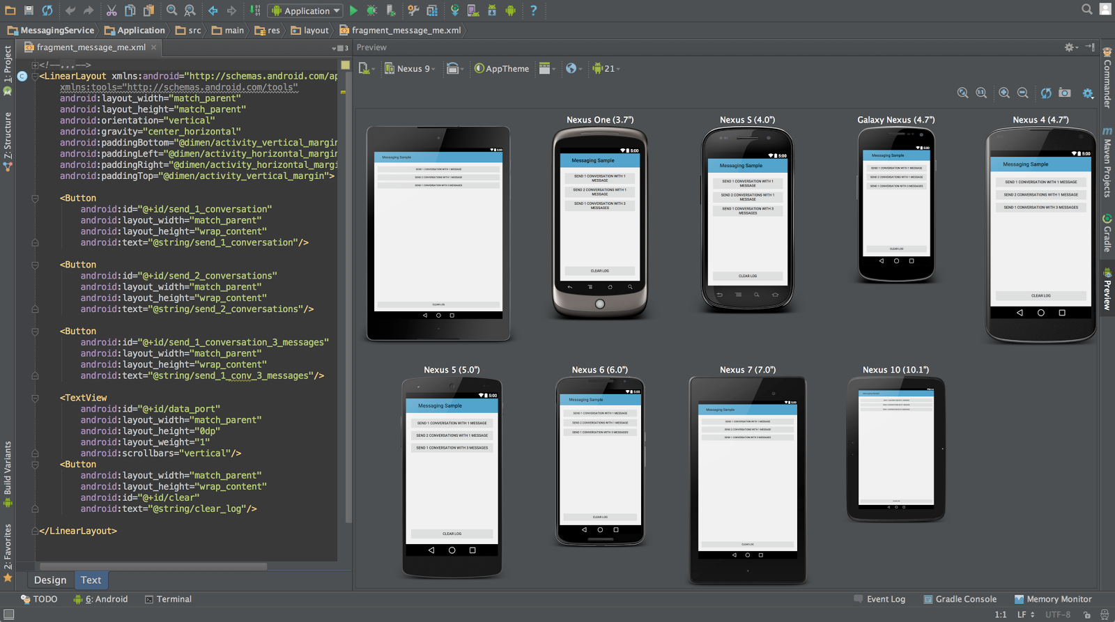 Android Studio lets you both