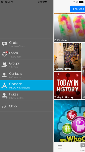 BBM channels adjust to the larger new iPhone screens.