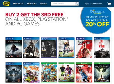 best buy launches buy 2 get 1 free game holiday promotion - Best Buy Christmas Hours 2014
