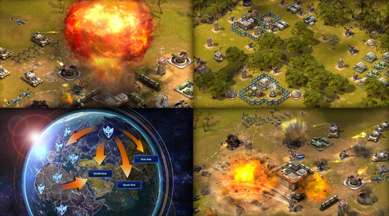 Empires & Allies mobile version features a realistic modern combat art style.