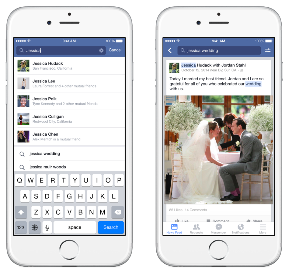 Graph Search now helps mobile users find people and posts on Facebook.