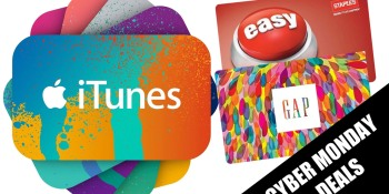 $100 iTunes for $75 as gift cards invade Cyber Monday