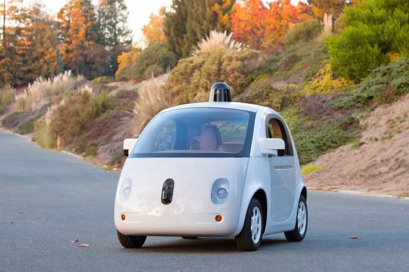 Google's driverless car prototype.
