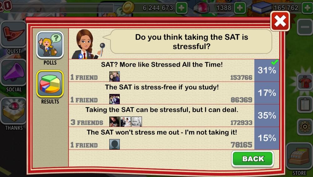 High School Story SAT update