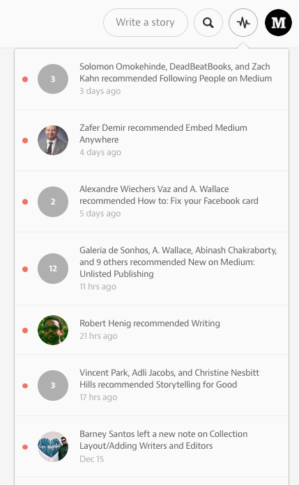 medium notifications