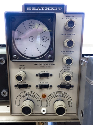 A Heathkit Vectorscope.