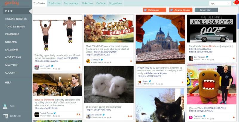 A screen from trend intelligence/content marketing platform Parllay Studio